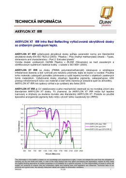 SK-AKRYLON XT IRR techinfo
