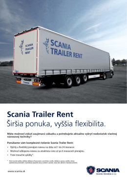Scania Trailer Rent