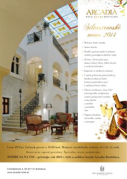 Silvestrovské - Hotel Arcadia