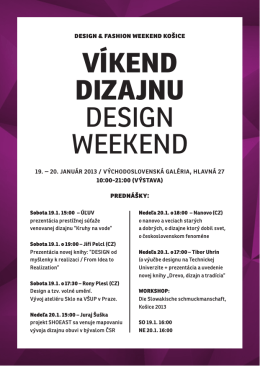 VÍKEND DIZAJNU DESIGN WEEKEND