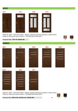 Katalóg interiérových dverí