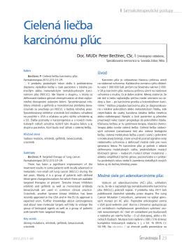 Cielená liečba karcinómu pľúc