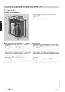 2.1 Popis výrobku Vitocal 300-G, typ BW, BWS, WW