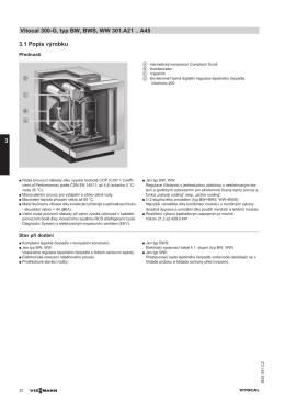 3.1 Popis výrobku Vitocal 300-G, typ BW, BWS, WW