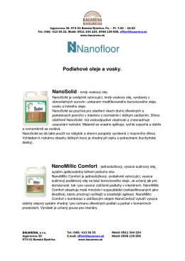 Podlahové oleje a vosky. NanoSolid