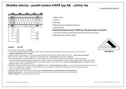 Skladba střechy - použití izolace DAPE typ AB