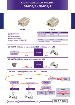 GS-USB/2 a GS-USB/4 - ADI Global Distribution