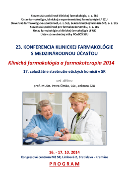 Klinická farmakológia a farmakoterapia 2014