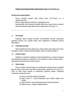 Analýza zmluvnej dokumentácie medzi mestom Levice