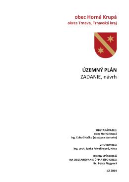 Zadanie, návrh Horná Krupá 2014