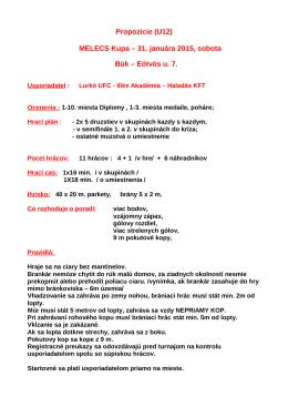 Propozície (U10)