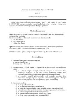 VZN č. 05/2013 o používaní obecných symbolov