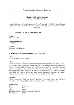 Výroba asfaltových zmesí Tunežice - ZS