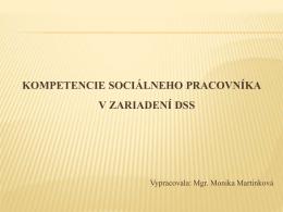 Kompetencie sociálneho pracovníka