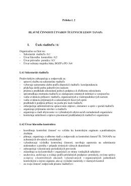 Príloha č. 2 k Organizačnému poriadku