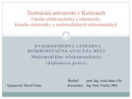 2 - Katedra elektroniky a multimediálnych telekomunikácií