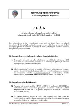 Plán práce výboru MO