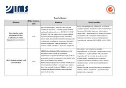 Aktuálny zoznam kurzov - Centrum vzdelávania IMS