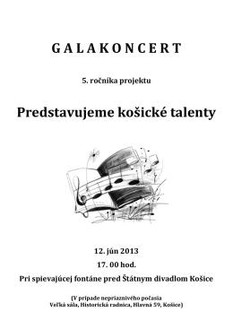 Program - Galakoncert - ZUŠ Márie Hemerkovej