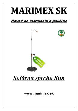 Návod k solárnej sprche Sun