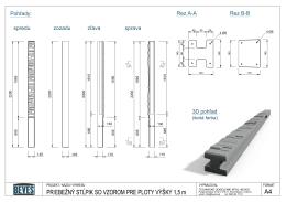 Pohľady: Rez A-A Rez B-B 3D pohľad spredu zozadu zľava sprava