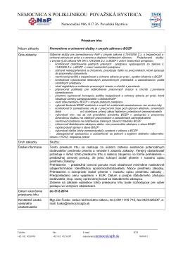 BOZP.pdf - Nemocnica s poliklinikou Považská Bystrica