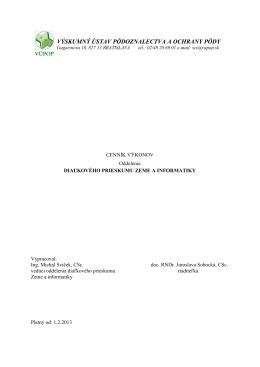 Cenník služieb - Výskumný ústav pôdoznalectva a ochrany pôdy