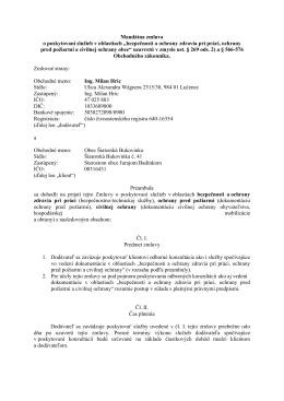 Mandátna zmluva - Šiatorská Bukovinka
