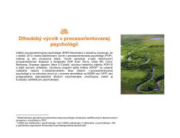 Dlhodobý výcvik v procesorientovanej psychológii