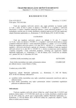 0125/2013/T (pdf) - Martinská teplárenská, as