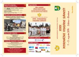 Pozvánka XXXIX. Podroháčskych folklórnych slávností