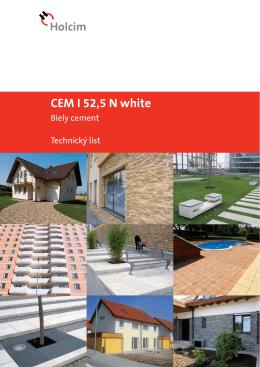 CEM I 52,5 N white
