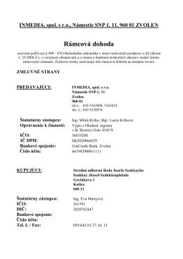 Kúpna zmluva Inmedia - Szakkay József Szakközépiskola