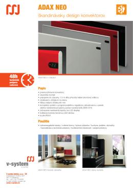 ADAX NEO - V-System elektro