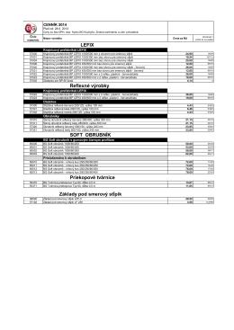 Dopravné systémy a špec. výrobky