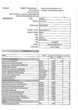 Objednávka 2015001
