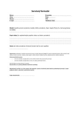 Servisný formulár