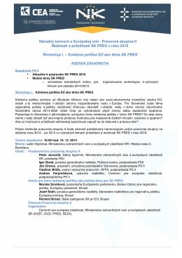 Program  - europeanaffairs.sk