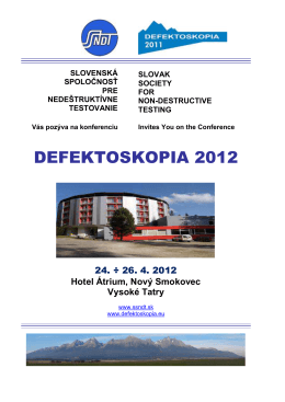 DEFEKTOSKOPIA 2012