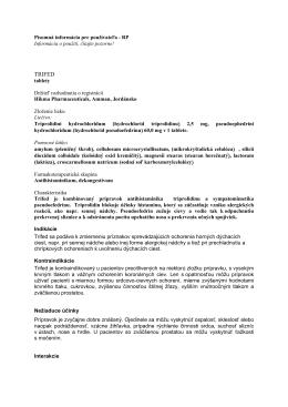Trifed – príbalová informácia