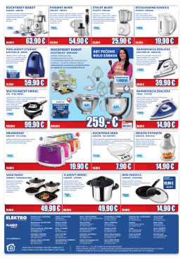 259,- € 207,20 € - Europa Shopping Center Zvolen