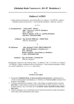 O.Z. Tanec proti drogám - ZŠ, Vazovova 4, 811 07 Bratislava