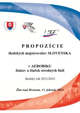 Propozície - Slovenská gymnastická federácia