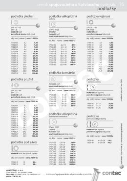 Podložky (pdf, 133 kB)