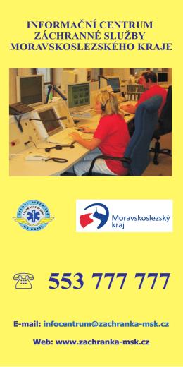 Leták Informačního centra záchranné služby