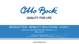 Mobility Solutions spravodaj marec 2011