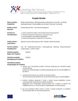 Projekt MreNa - agentúra rozvoja vodnej dopravy