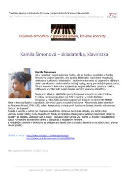 ponuka Kamila Šimonová klavír
