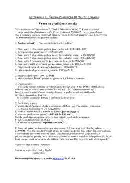 Pracovné stoly - Gymnázium Ľudovíta Jaroslava Šuleka Komárno