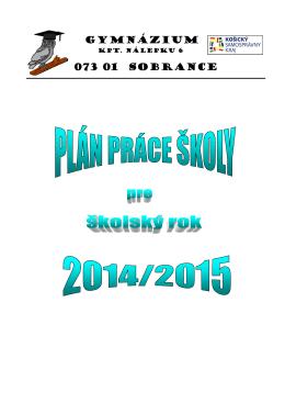 Plán práce školy 2014-2015